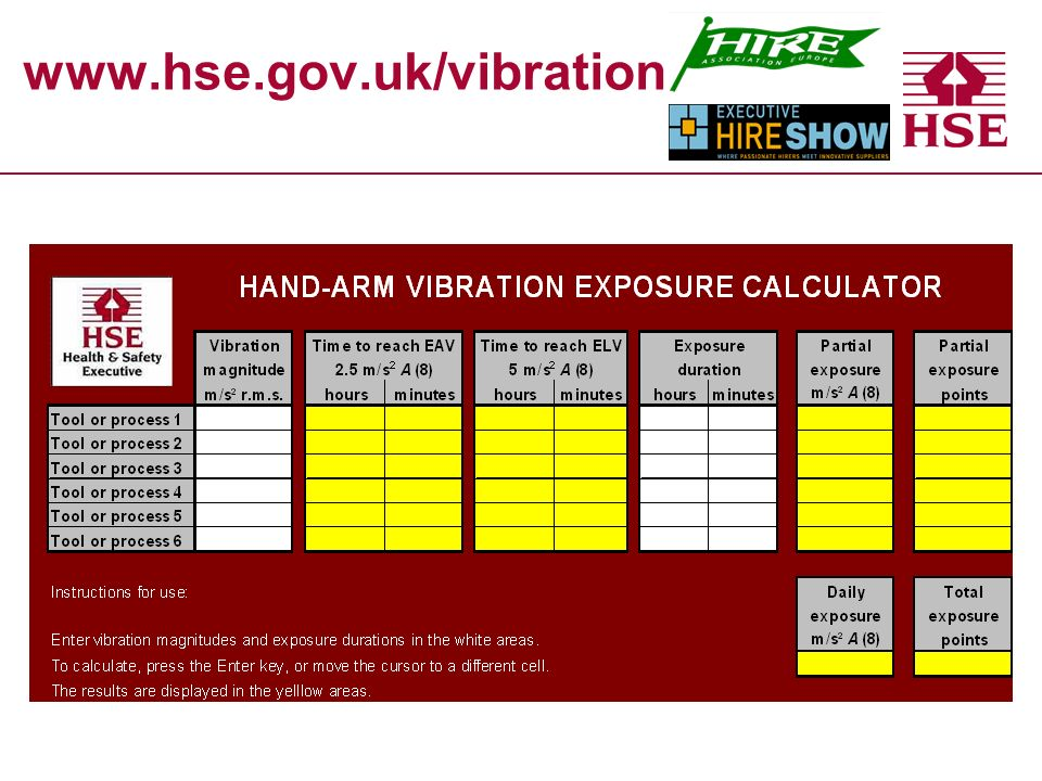 www.hse.gov.uk/vibration