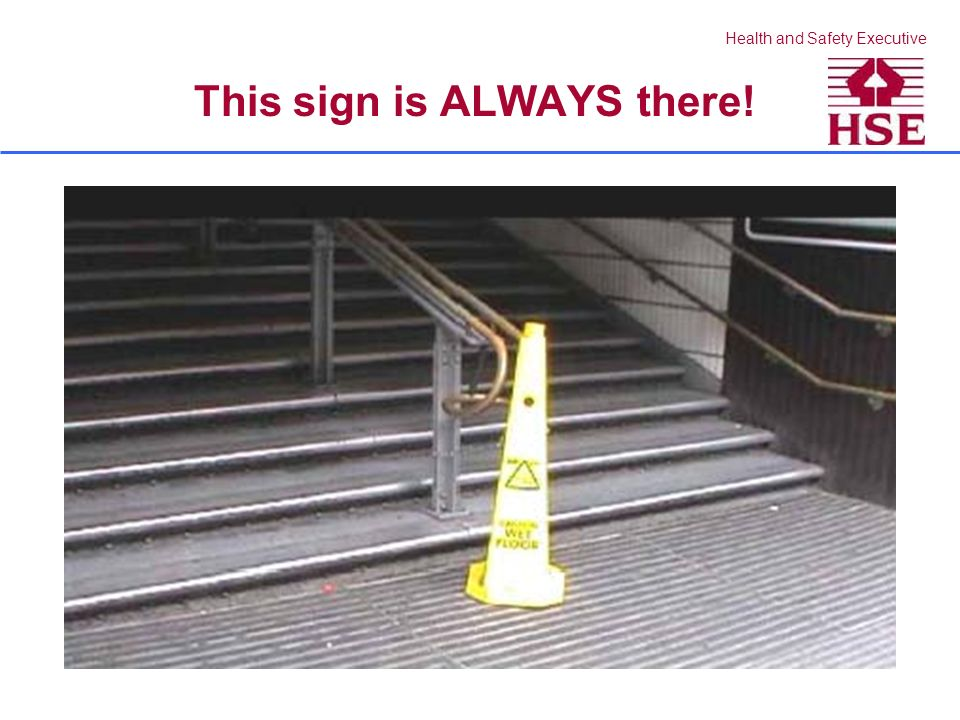 Health and Safety Executive Cleaning in sections – clear walkway