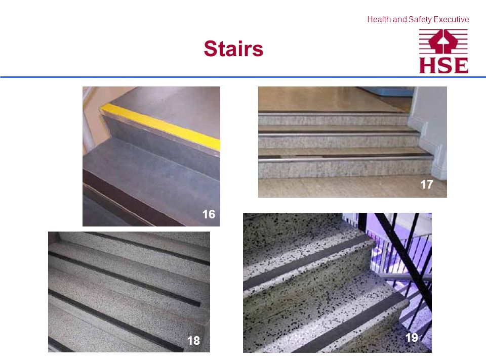 Health and Safety Executive Stairs 16 17 18 19