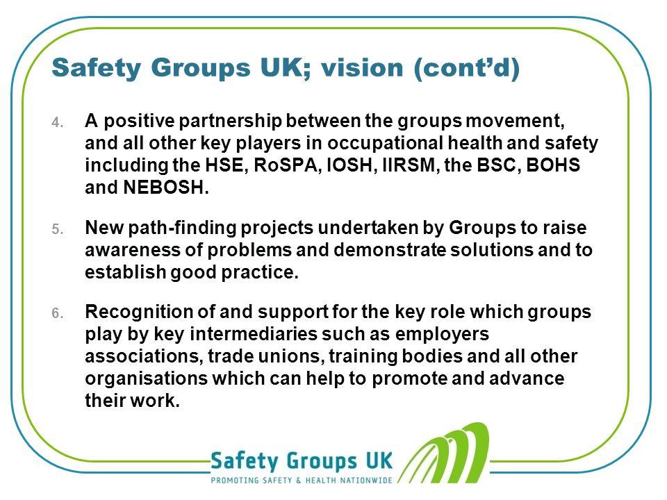 Safety Groups UK: vision 1.
