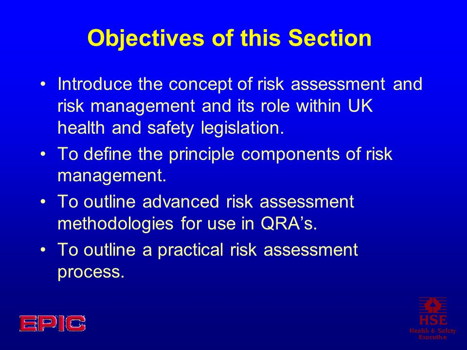 Assessing the Risks Subjective risk assessment Qualitative risk assessment involves making a formal judgement on the consequence and probability using: Risk = Severity x Likelihood