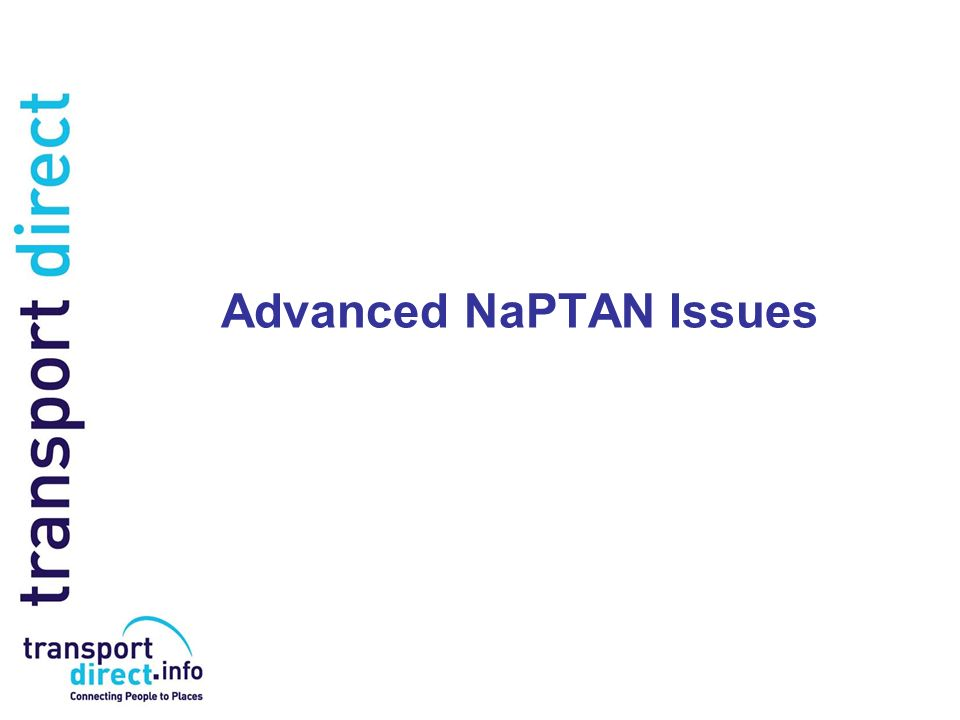 Advanced NaPTAN Issues