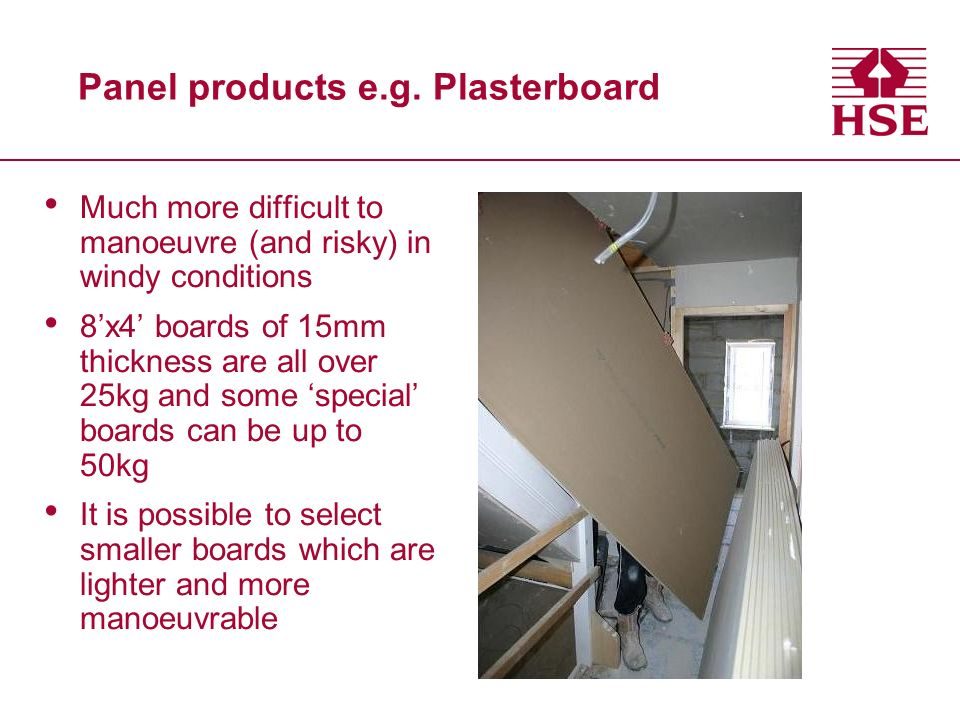 Panel products e.g.