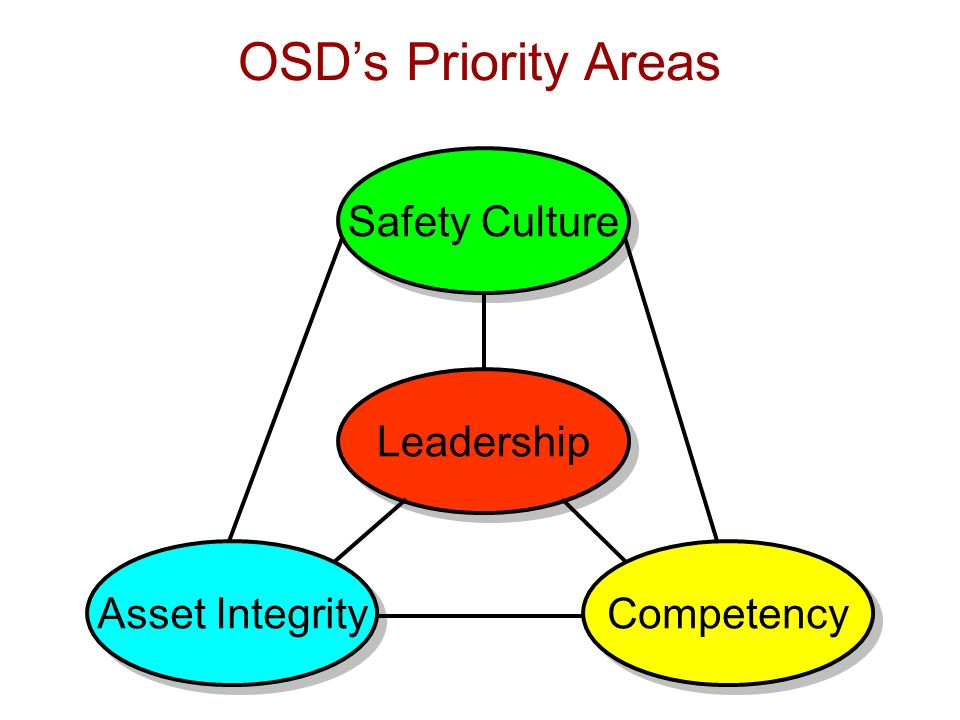 Leadership Competency Asset Integrity Safety Culture OSDs Priority Areas