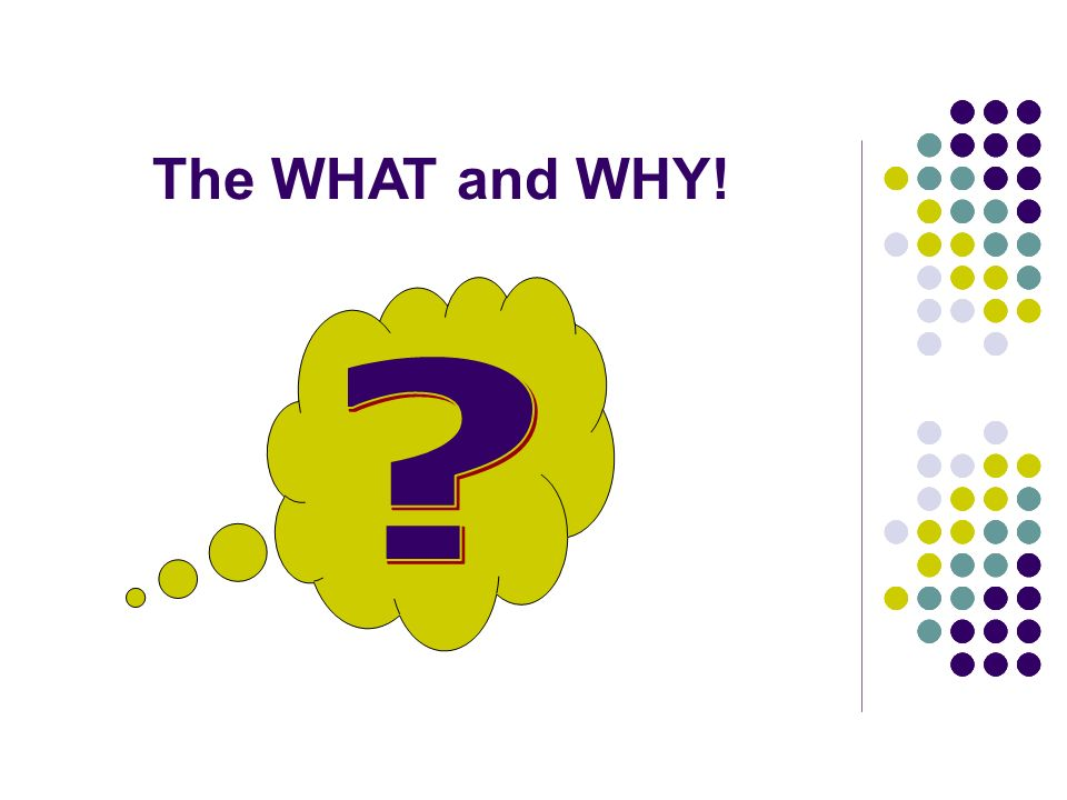 The WHAT and WHY!