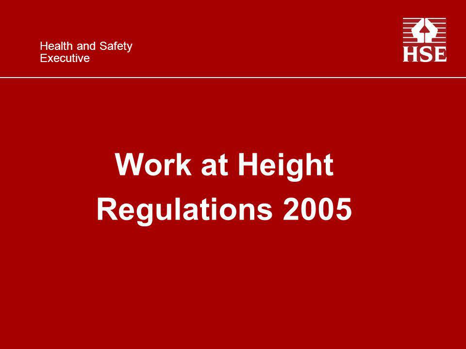 Work at Height Regulations 2005 Health and Safety Executive