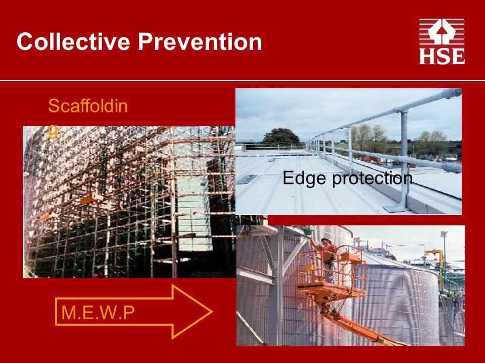 Collective Prevention. M.E.W.P Scaffoldin g Edge protection