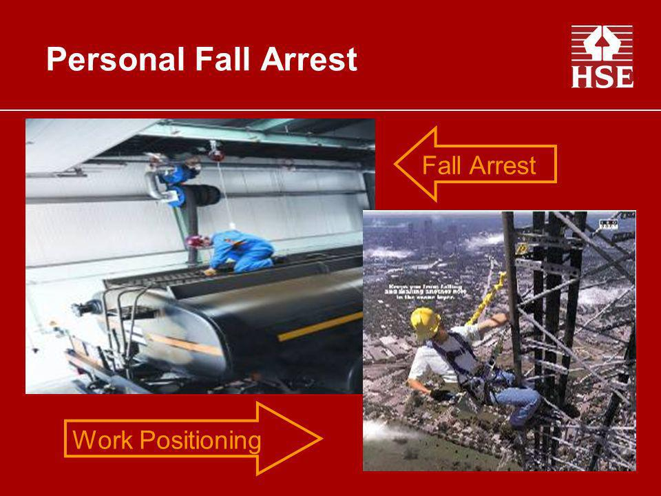 Personal Fall Arrest Fall Arrest Work Positioning