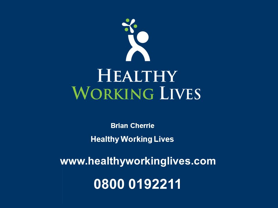 Brian Cherrie Healthy Working Lives