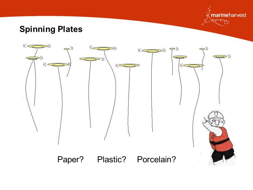 Spinning Plates Plastic Paper Porcelain