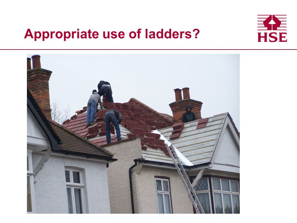 Appropriate use of ladders?