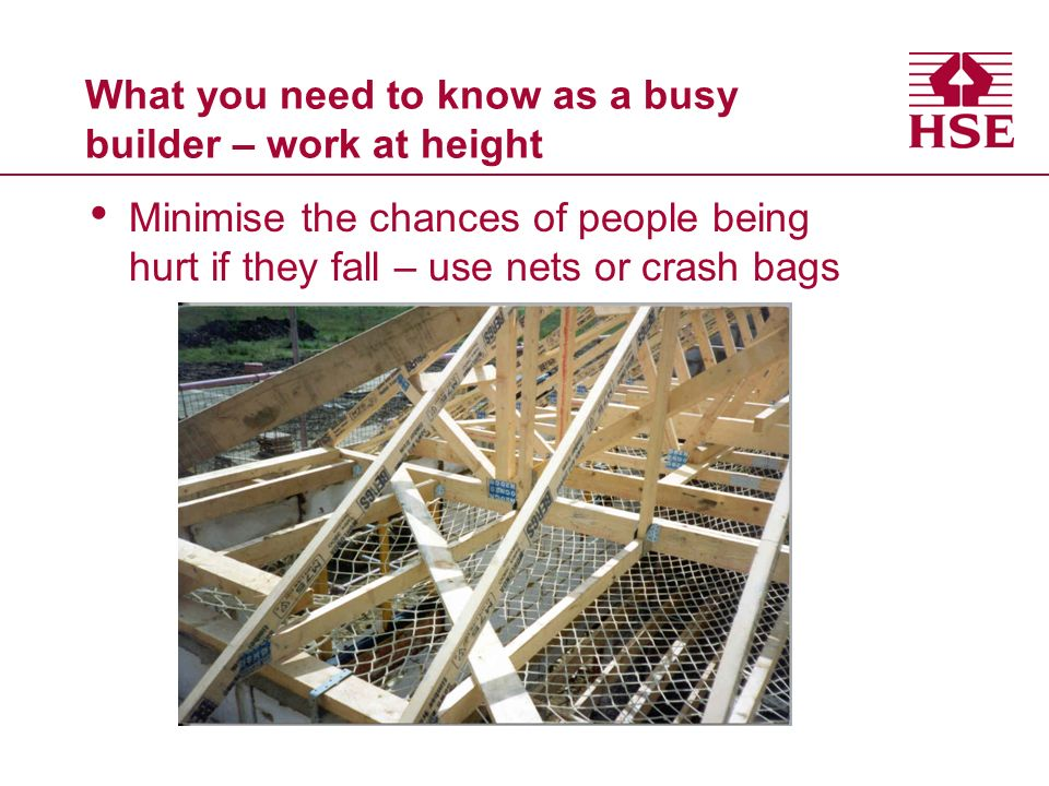 What you need to know as a busy builder – work at height working from ladders allowed only as last resort
