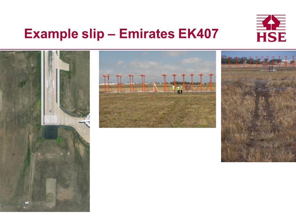 Example slip – Emirates EK407