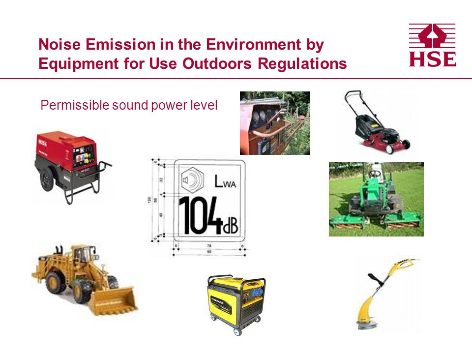 Noise Emission in the Environment by Equipment for Use Outdoors Regulations Permissible sound power level