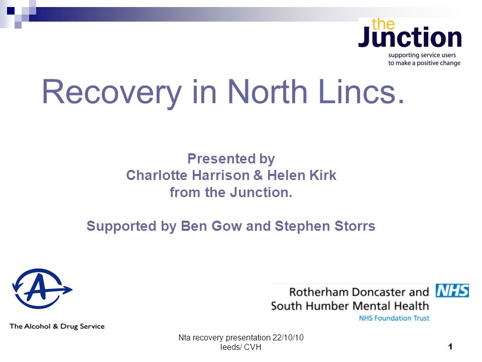 Nta recovery presentation 22/10/10 leeds/ CVH12 Maslow model What needs to be In place for recovery Becoming a recovery champion Hope.