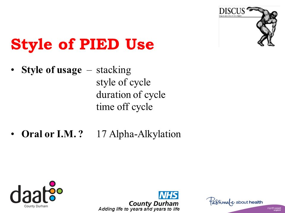 Adding life to years and years to life Style of PIED Use Style of usage – stacking style of cycle duration of cycle time off cycle Oral or I.M.