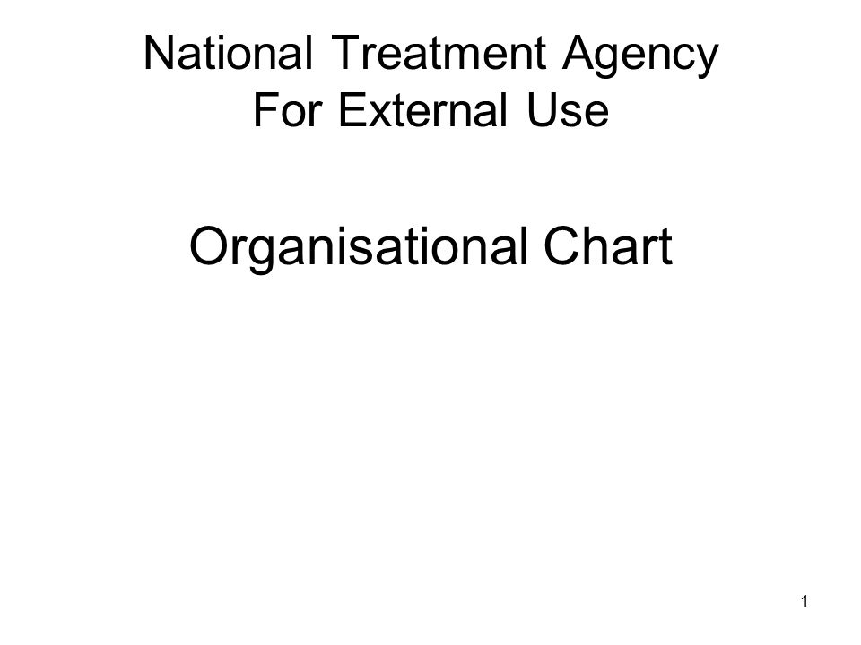 1 National Treatment Agency For External Use Organisational Chart