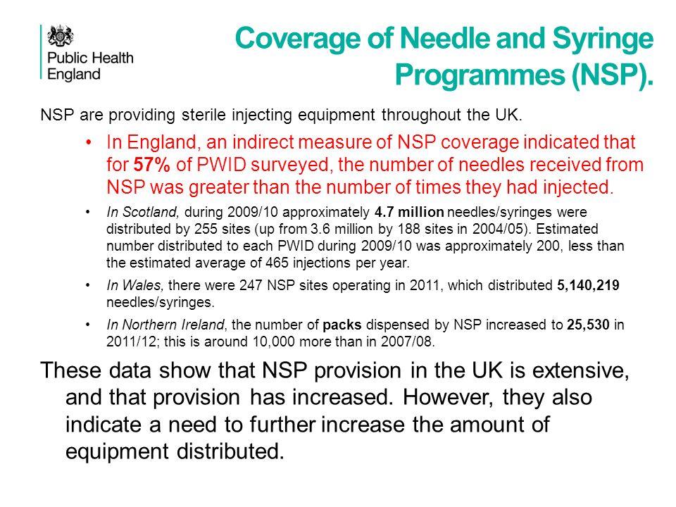 Coverage of Needle and Syringe Programmes (NSP).