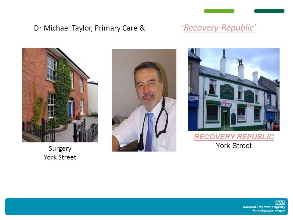 Dr Michael Taylor, Primary Care & Recovery Republic RECOVERY REPUBLIC York Street Surgery York Street