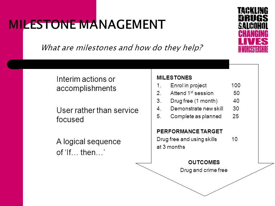 MILESTONE MANAGEMENT What are milestones and how do they help.