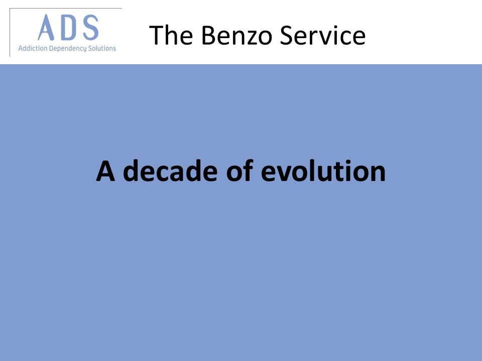 The Benzo Service A decade of evolution