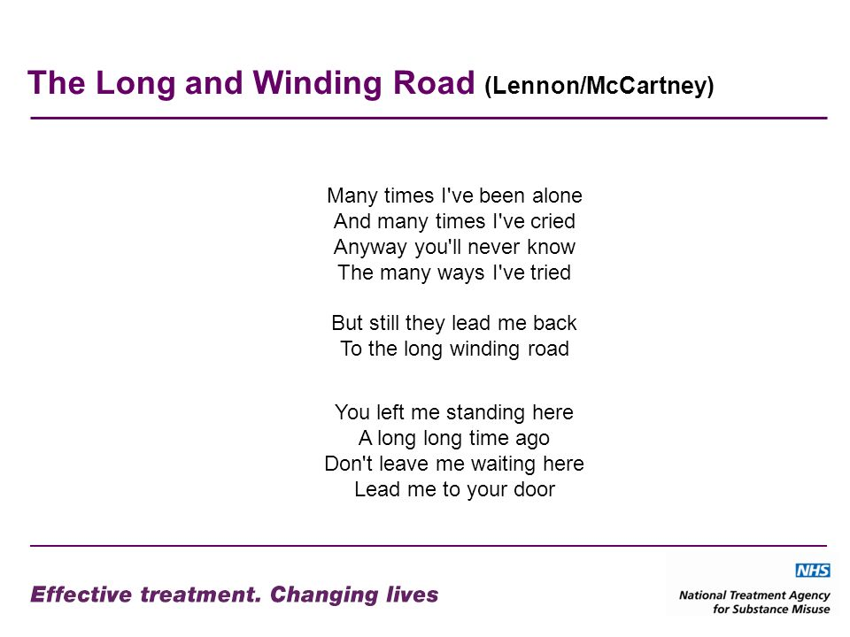 The Long and Winding Road (Lennon/McCartney) Many times I've been alone And many times I've cried Anyway you'll never know The many ways I've tried Bu