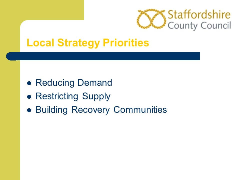 Local Strategy Priorities Reducing Demand Restricting Supply Building Recovery Communities