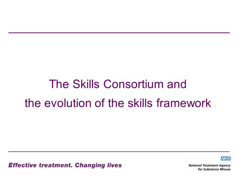 The Skills Consortium and the evolution of the skills framework