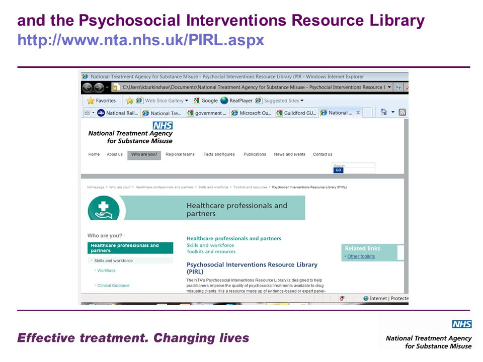 and the Psychosocial Interventions Resource Library
