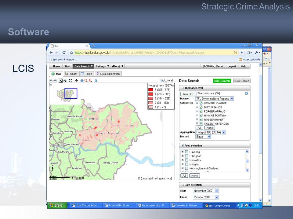 LCIS Software Strategic Crime Analysis