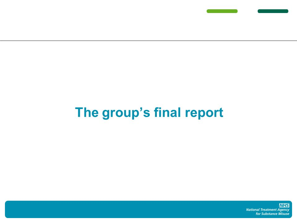 The groups final report