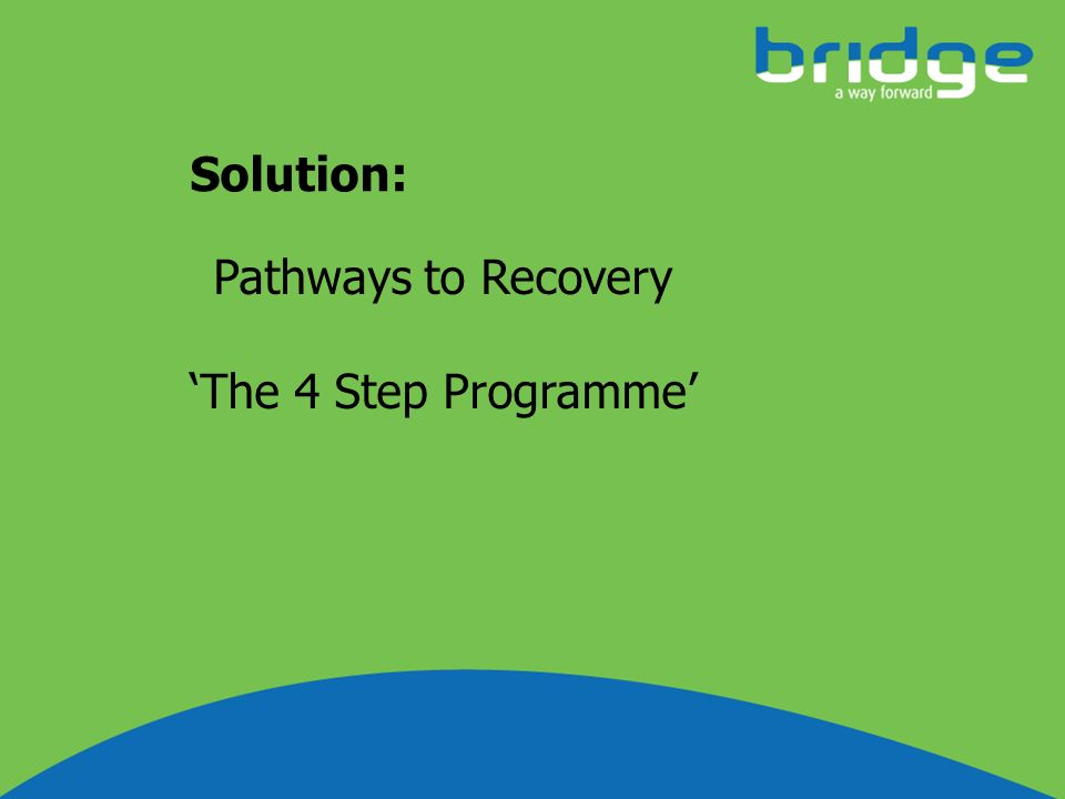 Pathways to Recovery The 4 Step Programme Solution: