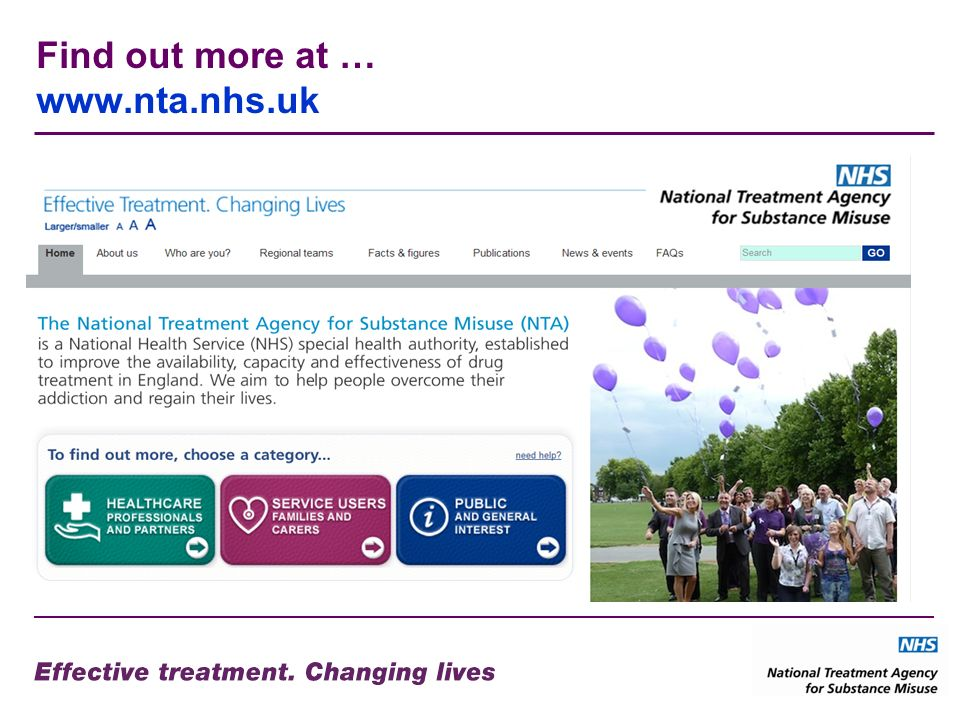 Find out more at … www.nta.nhs.uk