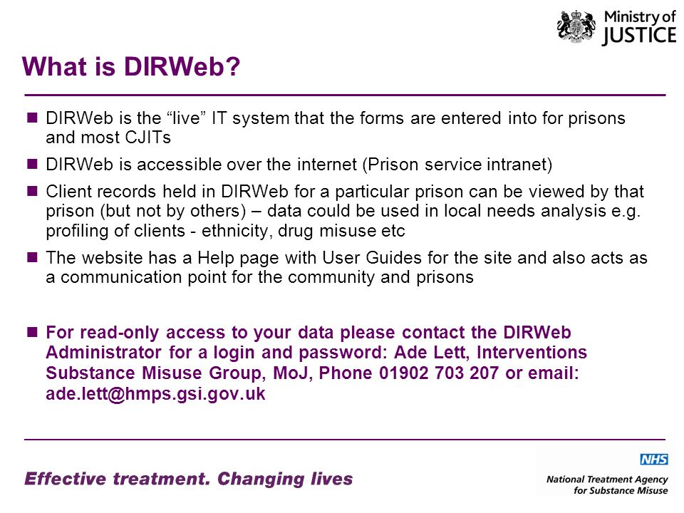 What is DIRWeb.