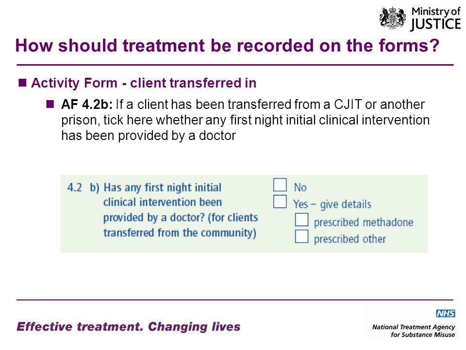 How should treatment be recorded on the forms.