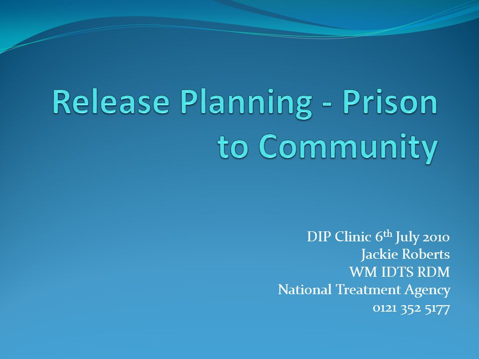 DIP Clinic 6 th July 2010 Jackie Roberts WM IDTS RDM National Treatment Agency 0121 352 5177