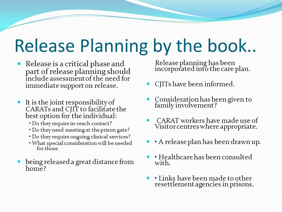 Release Planning by the book..