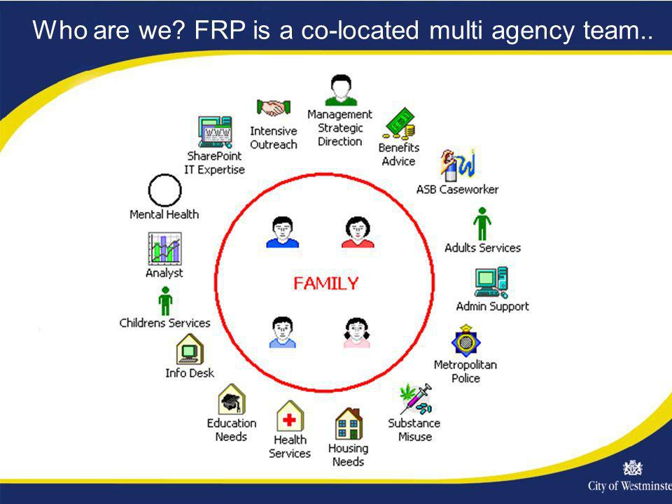 Who are we FRP is a co-located multi agency team..