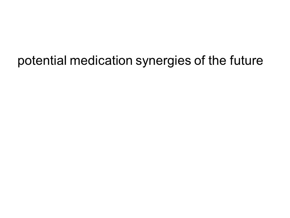 potential medication synergies of the future