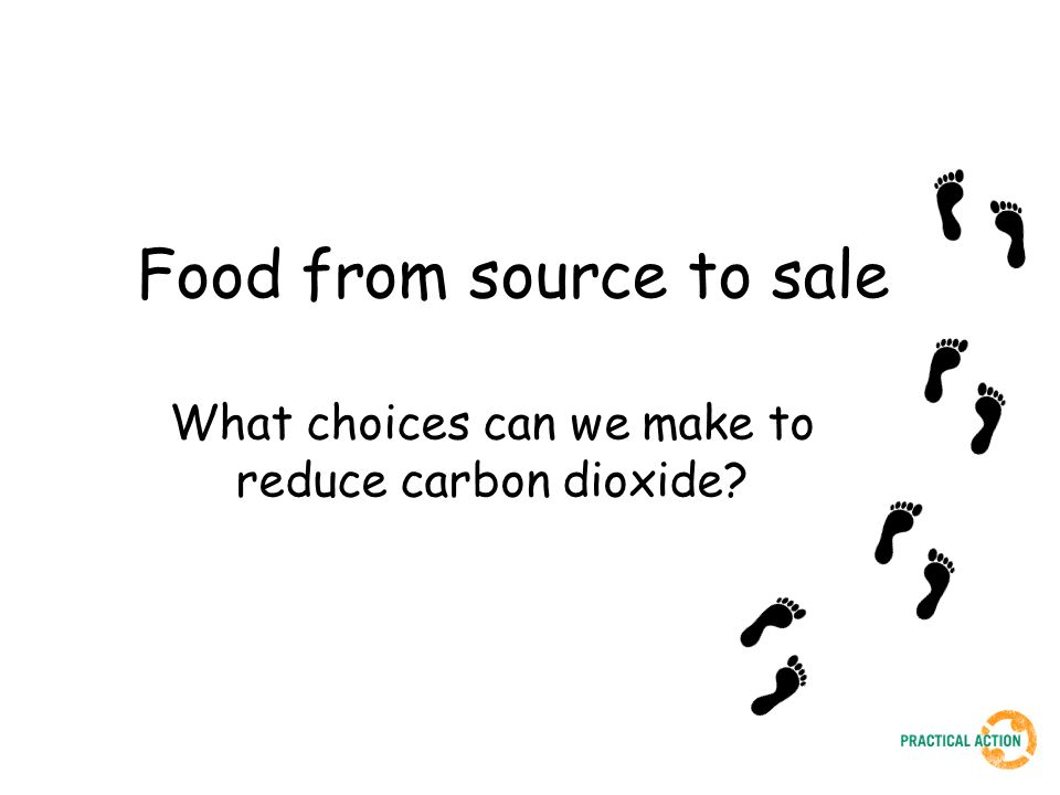 Food from source to sale What choices can we make to reduce carbon dioxide?