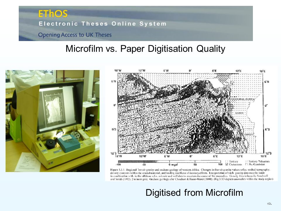 Microfilm vs. Paper Digitisation Quality Digitised from Microfilm KOL
