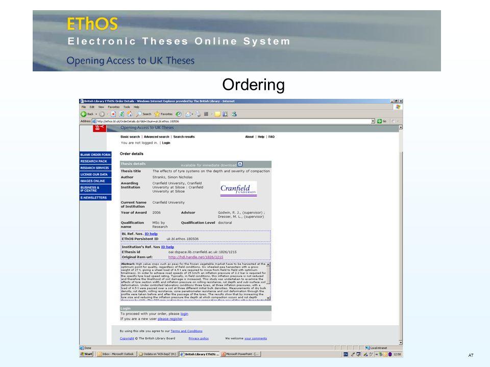 Ordering AT