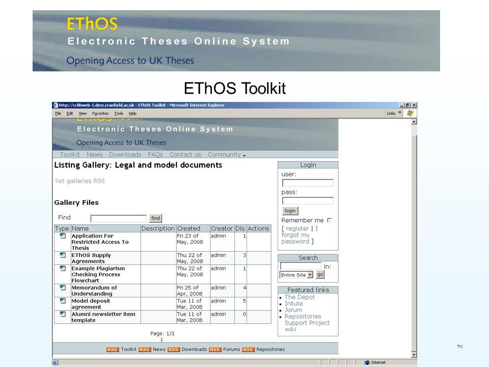 EThOS Toolkit TK