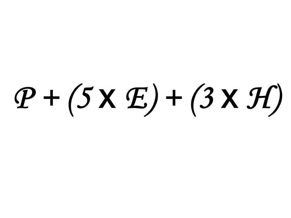 P + (5 x E) + (3 x H)