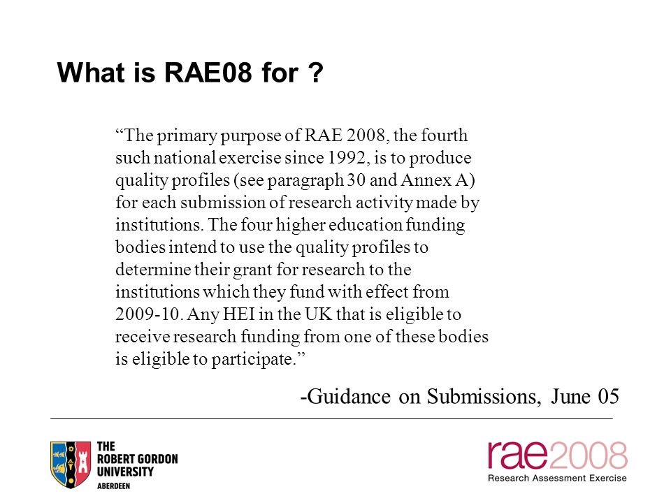 What is RAE08 for .