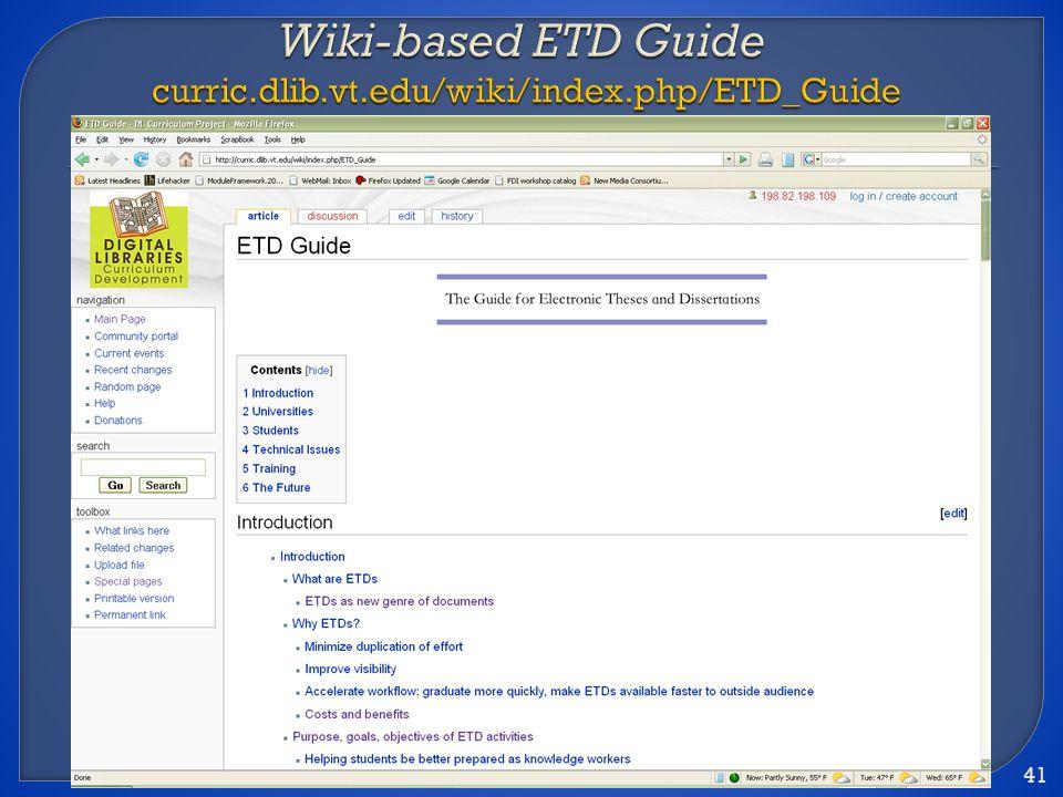 ETD 2008 (June 4-7) 41