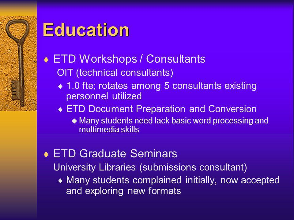 Costs & Benefits Graduate School Library Information Technology