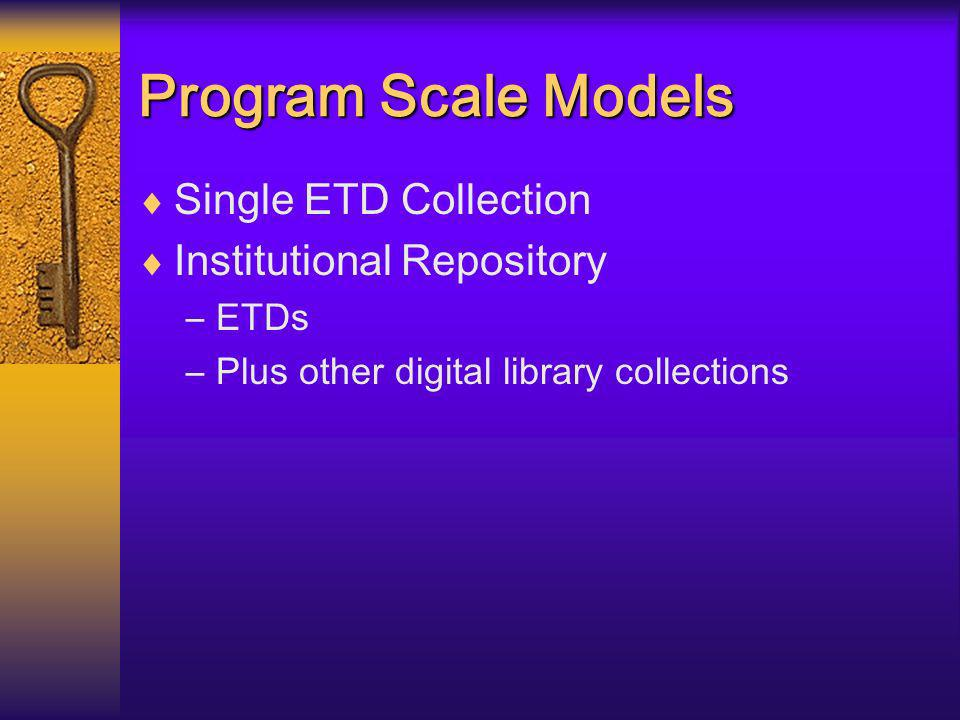Graduate School Submissions 1.0 fte; existing personnel utilized: Library Technical Consultant and occasional backup Library ETD Program Coordination & Task Force Liaison Equivalent to submission & review by graduate school Administration 1.0 fte Vice President for Graduate Affairs and Life