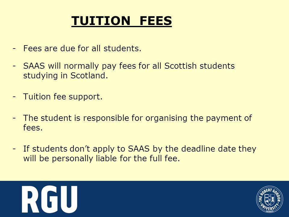 Maximum support entitlement Fee Loan£3,145 Bursary£2,095 Student Loan £4,510 for students not receiving bursary £2,415 for students in receiving bursary Additional Loan £590 for students receiving bursary