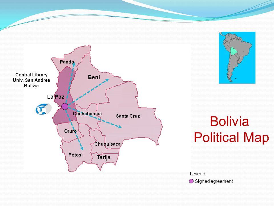 Bolivia Political Map Central Library Univ.